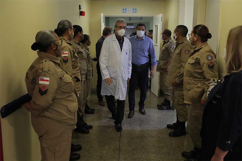 Bombeiros irão auxiliar no trabalho médico na FCecon - Foto Diego Peres-Secom