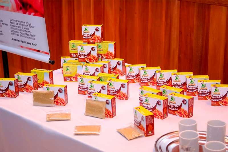 Caldo em pó de camarão ainda não será vendido ao consumidor (Foto: Divulgação)