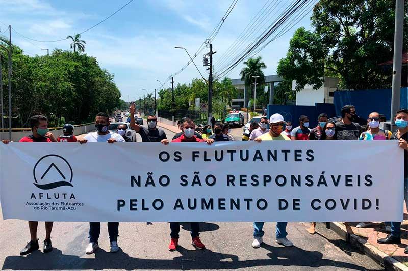 Grupo de donos de flutuantes pede reabertura dos balneários (Foto: Murilo Rodrigues/ATUAL)