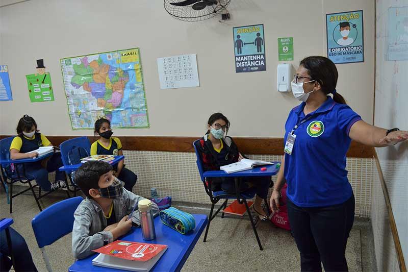 Escola Helena Araújo melhorou índice no Ideb (Foto: Lincoln Ferreira/Secom)