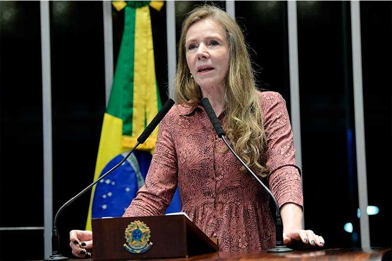 Ex-senadora Vanessa Grazziotin ganhou indenização na Justiça (Foto: Pedro França/Agência Senado)