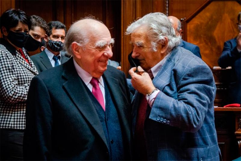 Pepe Mujica e Sanguinetti