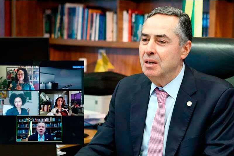Luís Roberto Barroso exaltou participação de mulheres na política (TSE/Ascom Divulgação)
