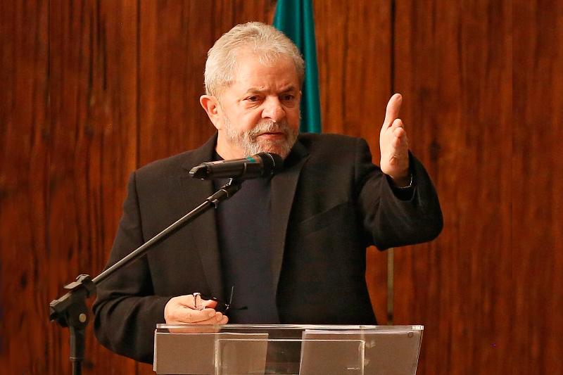 Lula em palestra de 2015