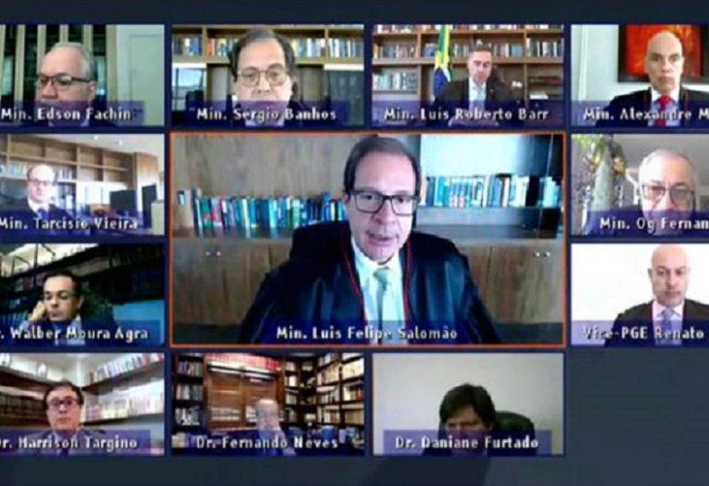 Sessão virtual TSE (Ascom TSE/Divulgação)