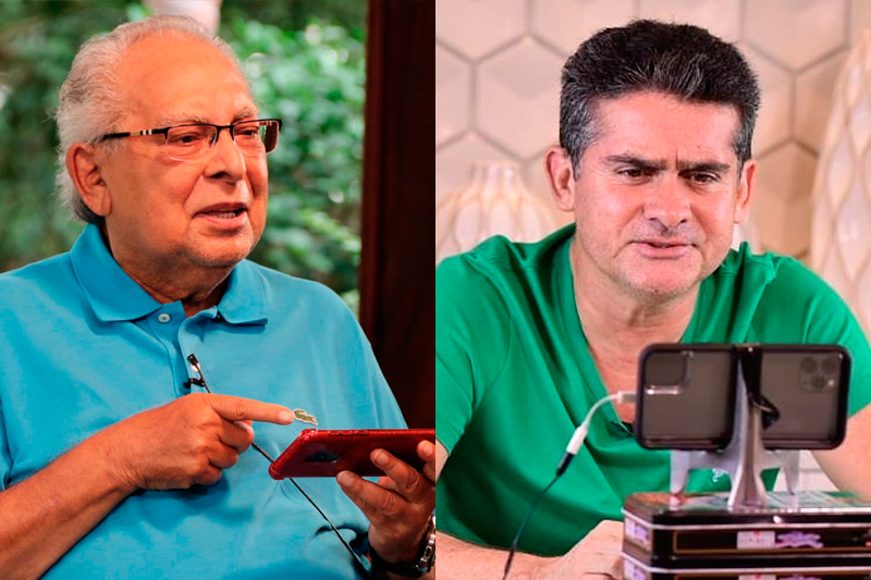 Amazonino Mendes e David Almeida