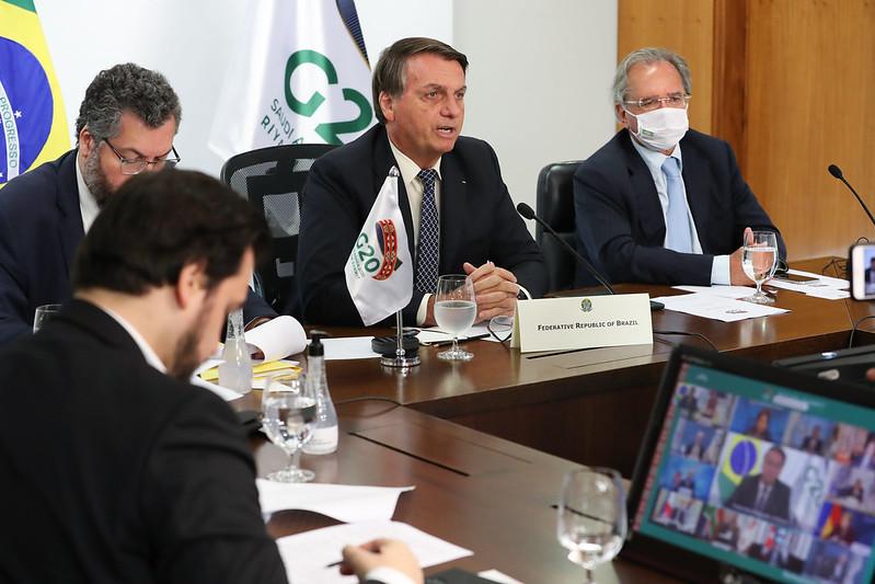 Jair Bolsonaro na reunião do G20