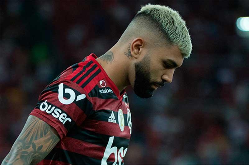 Gabigol saiu cabisbaixo após derrota por 4 a 0 (Alexandre Vidal/Flamengo)