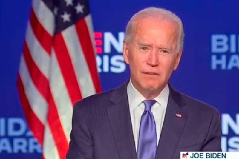 Joe Biden se mantém à frente de Trump (Foto: YouTube Band News/Reprodução)