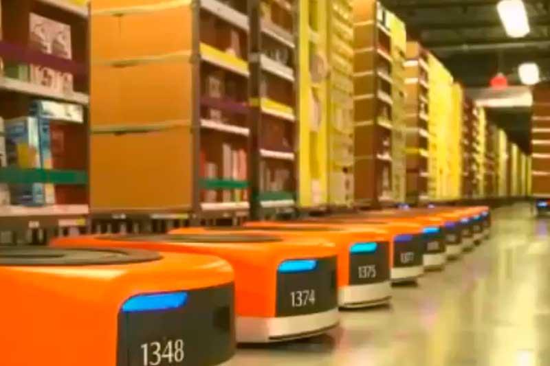 Centro de distribuição da Amazon, que ampliou investimento no Brasil (Foto: YouTube/Reprodução)