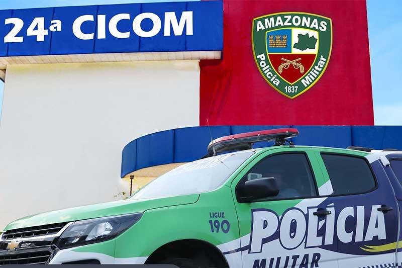 Homem preso foi levado para a delegacia e vítima foi liberada (Foto: PM-AM/Divulgação)