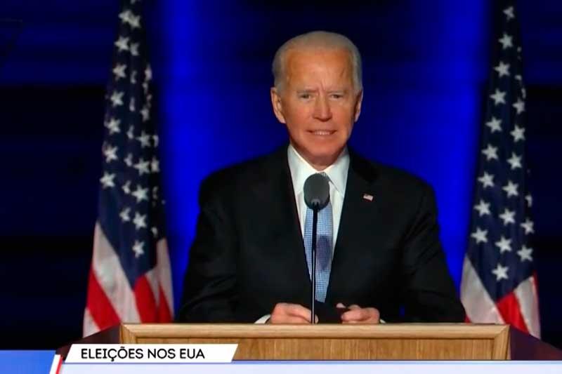Joe Biden promete uma América curada (Foto: Record News/YouTube/)