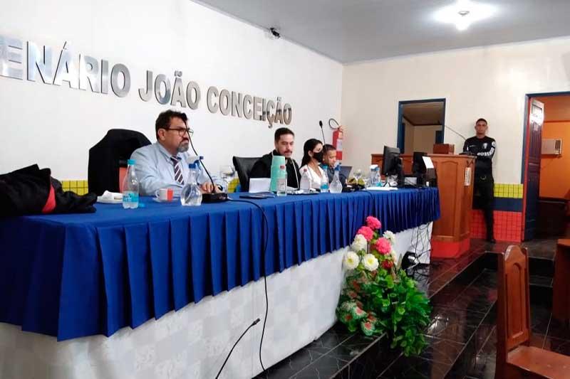 Julgamento de réus ocorreu na Câmara Municipal de Eirunepé (Foto: TJAM/Divulgação)