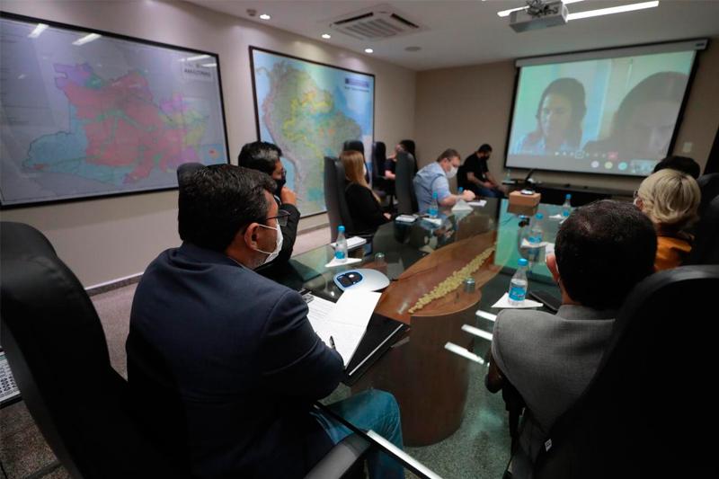 Governador Wilson Lima e equipe