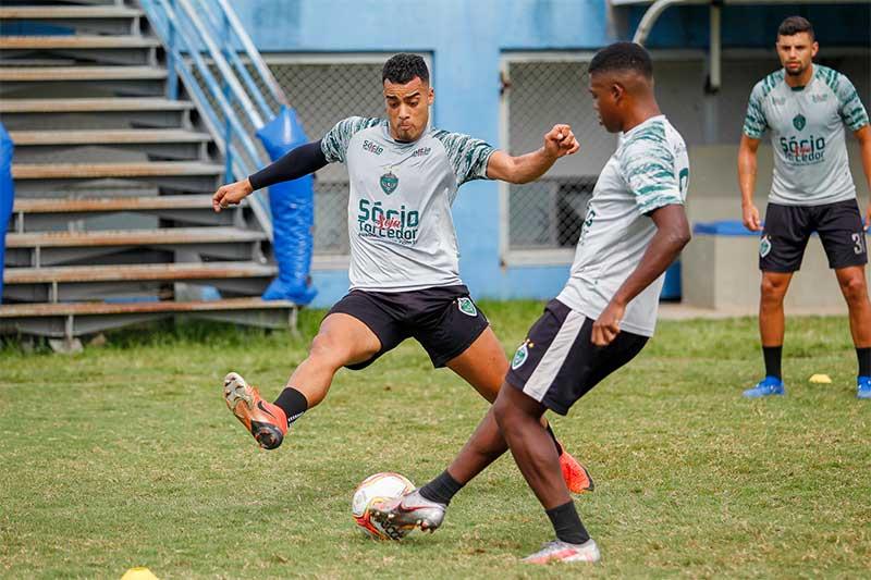 Treino do Manaus FC: de olho no G-4 (Foto: Ismael Monteiro/Manaus FC)