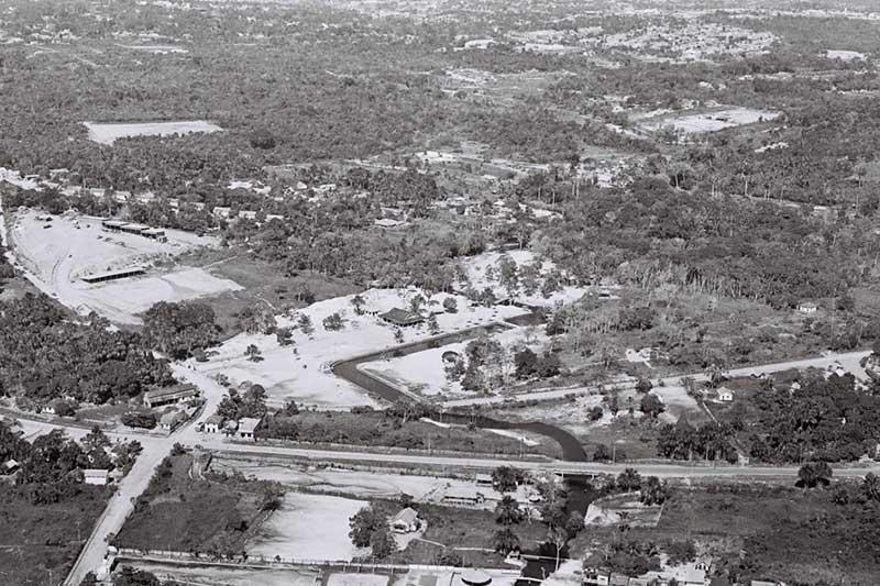 Antigo balneário do Parque 10 tinha piscina natural (Foto: Serafim Corrêa/cervo pessoal)