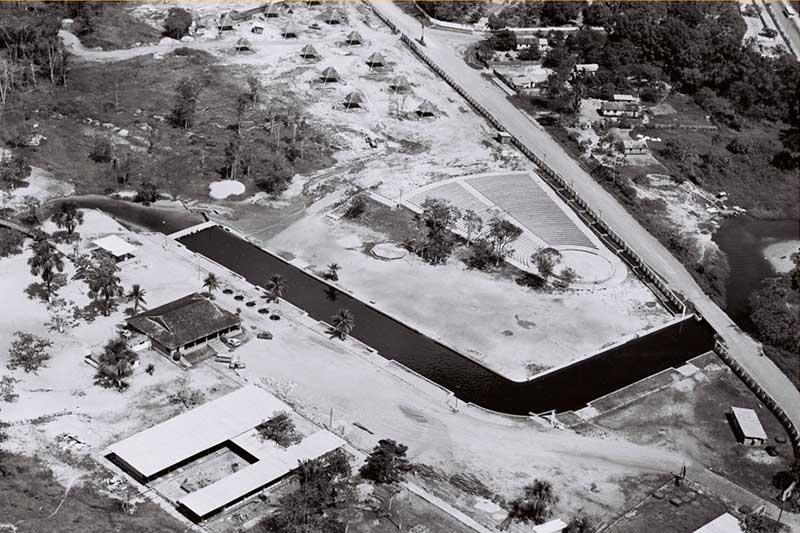 Balneário tinha projeto para duas piscinas naturais (Foto: Serafim Corrêa/Acervo)