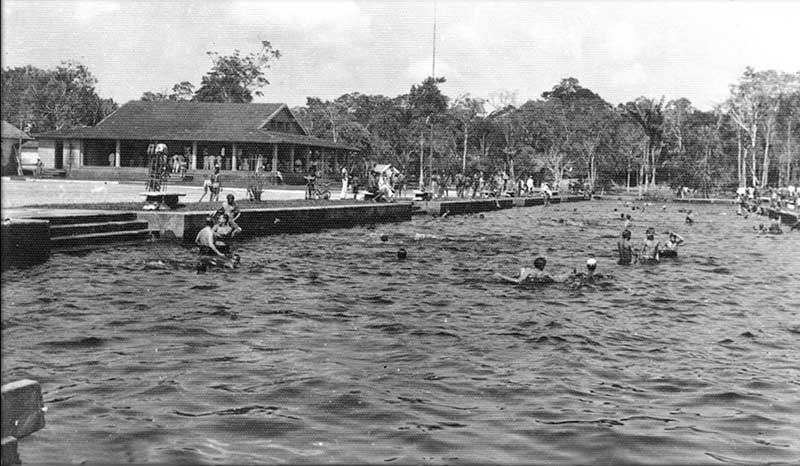 Balneário do Parque 10 era principal área de lazer em Manaus nos anos 1960 (Foto: Serafim Corrêa/Acervo)