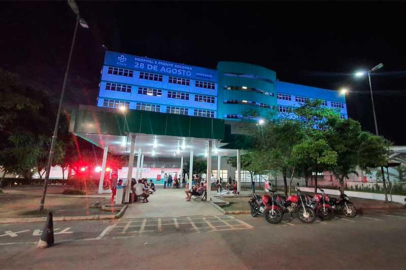 Hospital 28 de Agosto fopi adaptado para receber pacientes de Covid-19 (Foto: SES-AM/Divulgação)