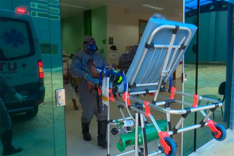 Paciente do 28 de Agosto é transferido para reserva de UTI a contaminados por coronavírus (Foto: SES-AM/Divulgação)