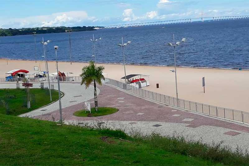 Ponta Negra terá restrições até o final de janeiro (Foto: Semcom/Divulgação)