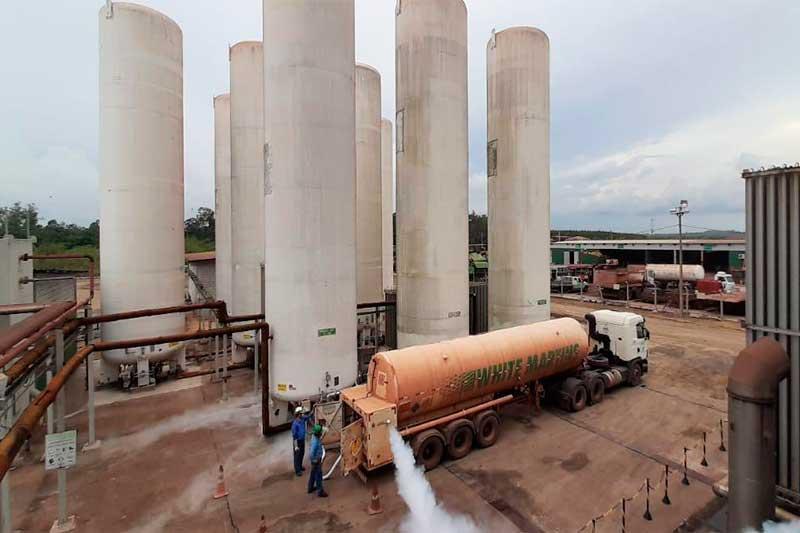 Aço Verde Brasil doou oxigênio e White Martins cedeu carretas para o transporte (Foto: Divulgação)