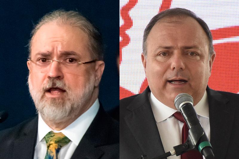 Augusto Aras e Eduardo Pazuello