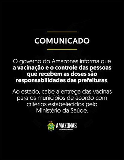 governo do Amazonas comunicado
