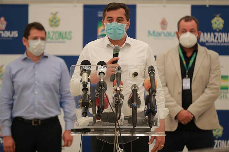 Governador Wilson Lima anunciou doses estimada de vacina para o Amazonas (Foto: Diego Peres/Secom)