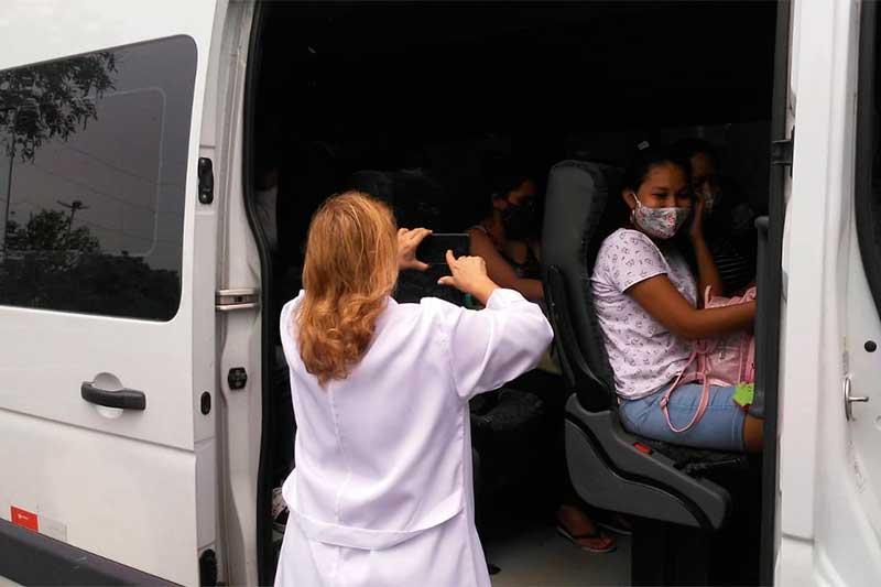 Mulheres são transferidas de maternidades em Manaus (Foto: SES-A/Divulgação)