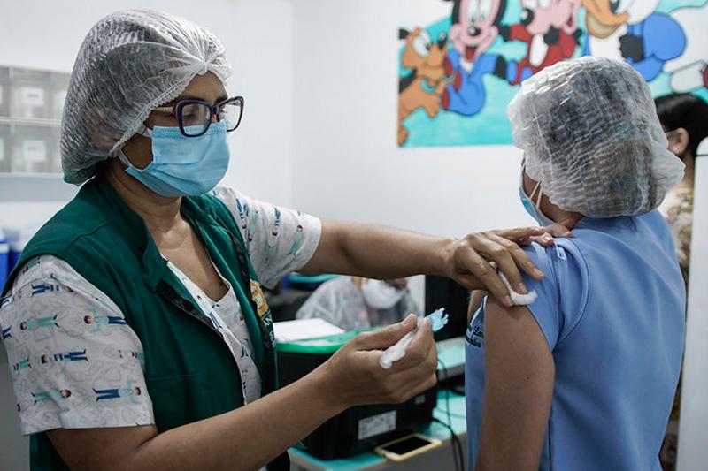 Vacinação contra a Covid-19 em Manaus