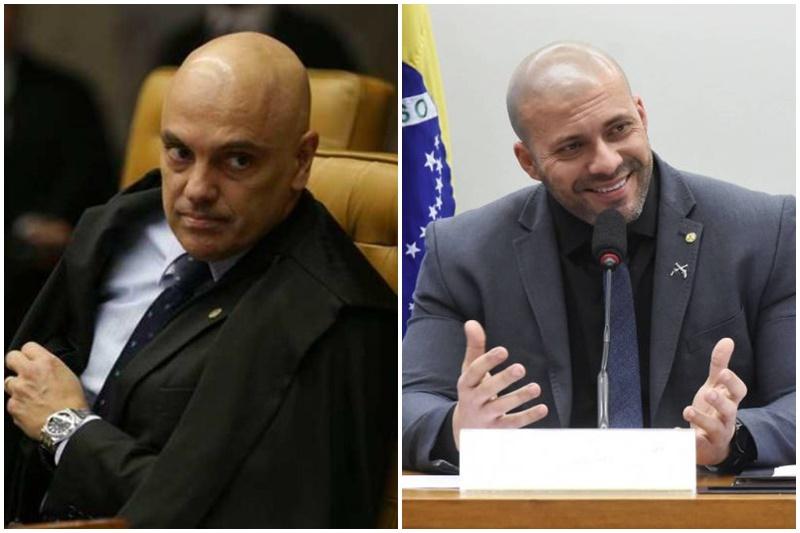 Alexandre de Moraes e Daniel Silveira: embate político (Fotos: Antônio Cruz/ABr e Reila Maria/Agência Câmara)