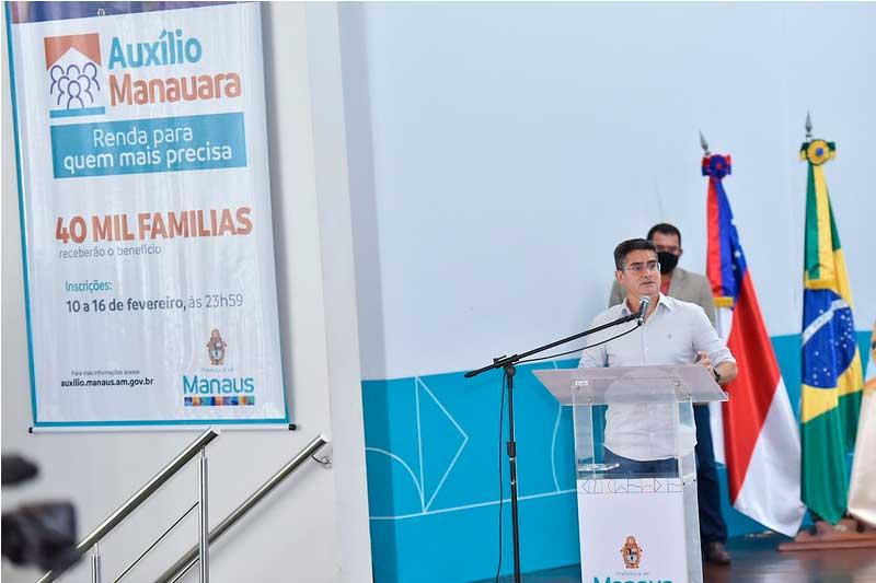 Auxílio Manauara foi lançado pelo prefeito David Almeida (Foto: Dhyeizo Lemos/PMM Semcom)
