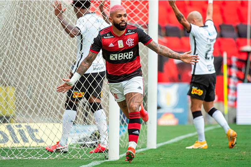 Gabigol marcou para o Flamengo na vitória sobre o Corinthians (Foto: Alexandre Vidal/Flamengo)