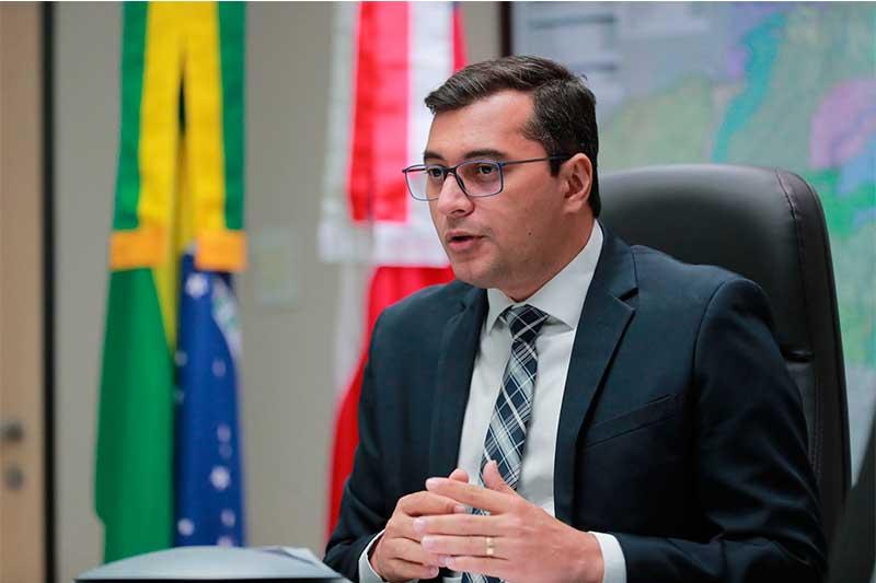 Governador Wilson Lima desejou sabedoria a deputado (Foto: Diego Peres/Secom)