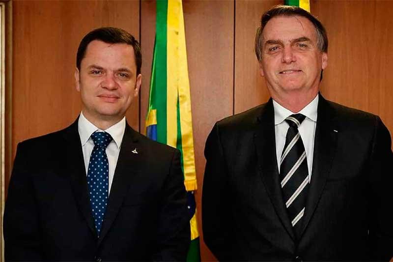 Anderson Gustavo Torres com o presidente Jair Bolsonaro (Foto: Carolina Antunes/PR)