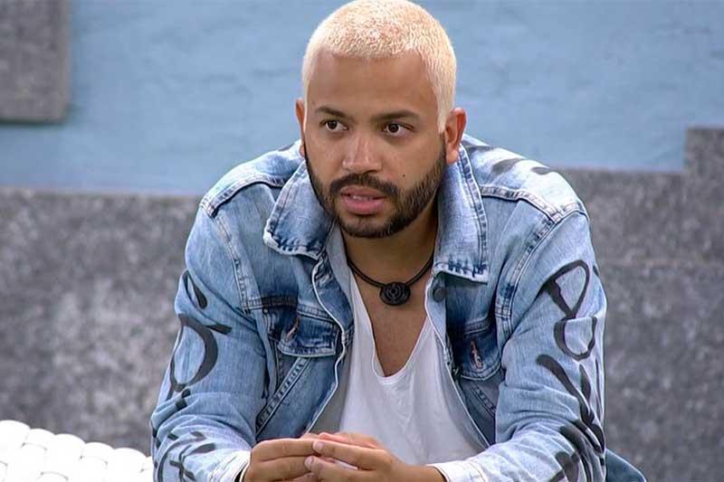 Cantor Projota teve a nona maior rejeição no reality (Foto: TV Globo/Reprodução)