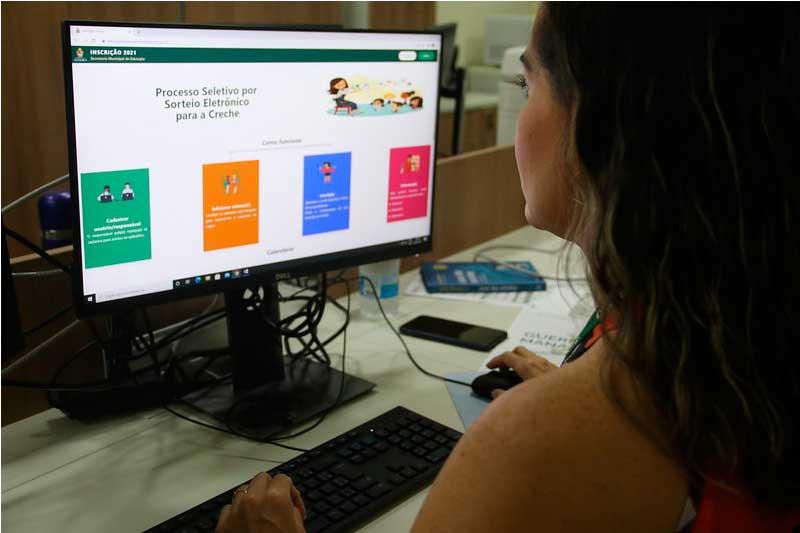 Inscrição e sorteio para vagas de creches serão totalmente pela internet (Foto: Eliton santos/Semed)