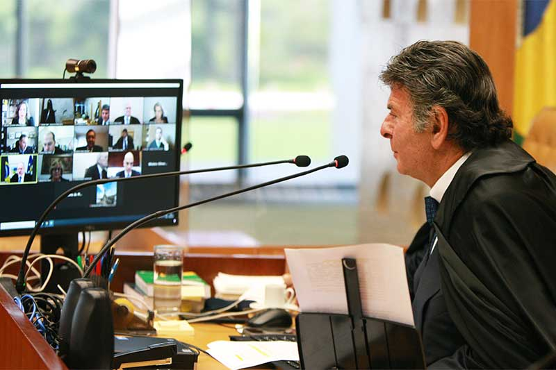 Luiz Fux foi acusado de autoritário (Foto: Nelson Jr/SCO/STF)