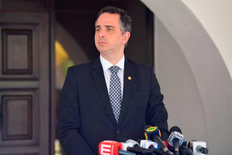 Rodrigo Pacheco voltou a cobrar mudança no Ministério do Exterior (Foto: Marcos Brandão/Agência Senado)