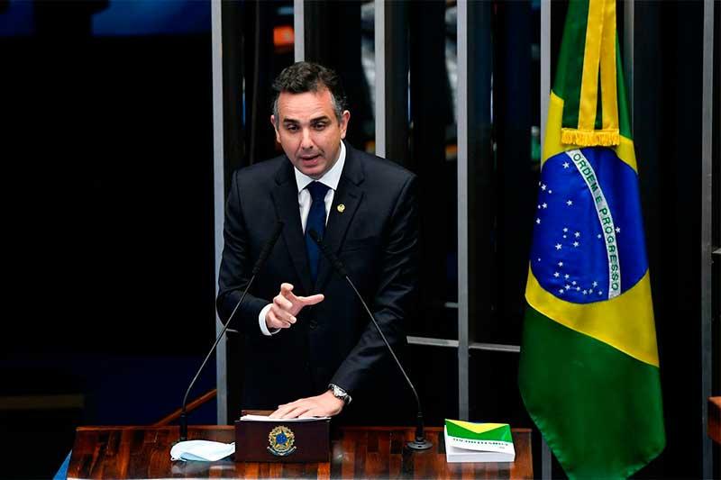 Rodrigo Pacheco cobrou responsabilidade do governo (Foto: Marcos Oliveira/Agência Senado)