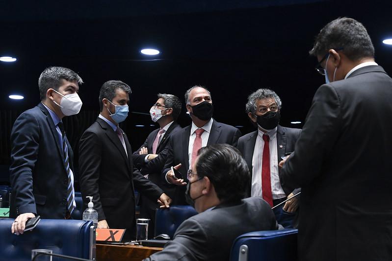 Senadores em plenário