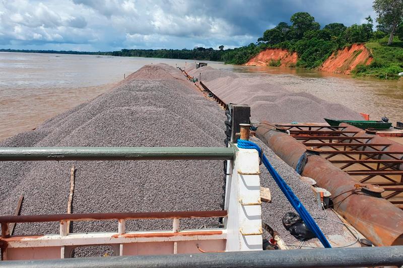 Pedra britada apreendida no Amazonas