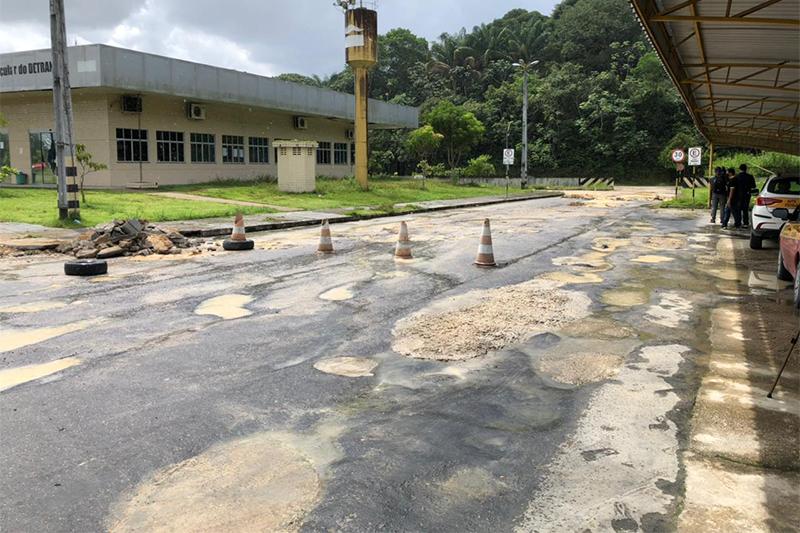 Trecho da pista para aulas práticas foi inteditado (Foto: Murilo odrigues/ATUAL)