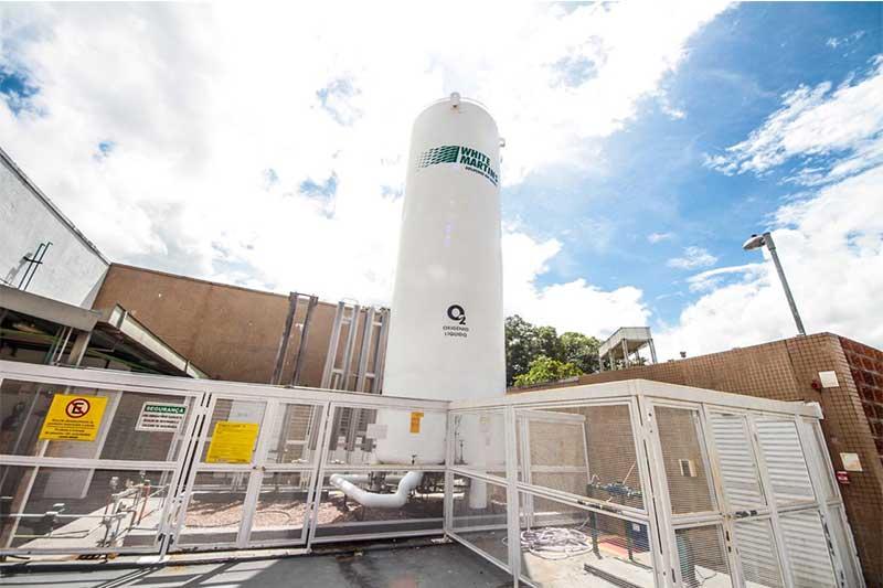White Martins produz o dobro da capacidade de consumo de oxigênio em Manaus (Foto: SES-AM/Divulgação)