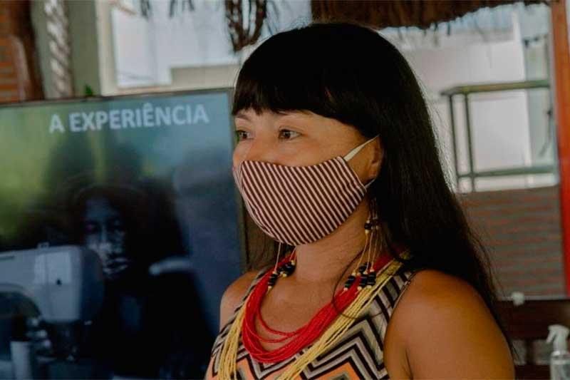Indígena participa de projeto sobre negócios: empreendedorismo na floresta (Foto: FAS/Divulgação)
