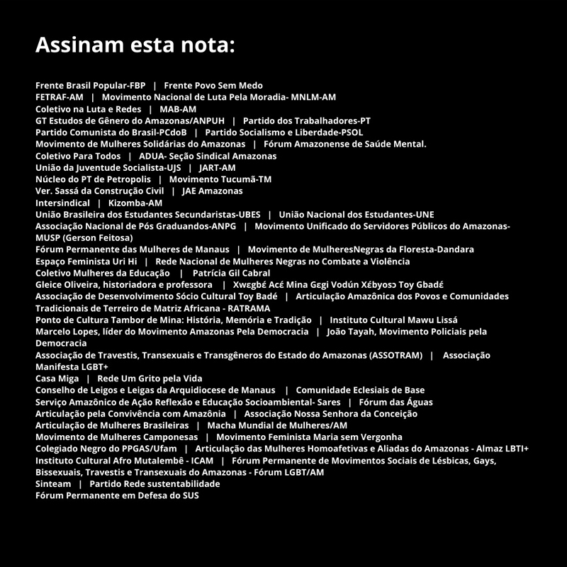 Nota de Repúdio Bolsonaro