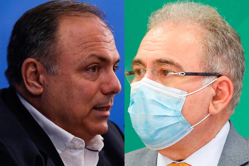 Eduardo Pazuello e Marcelo Queiroga