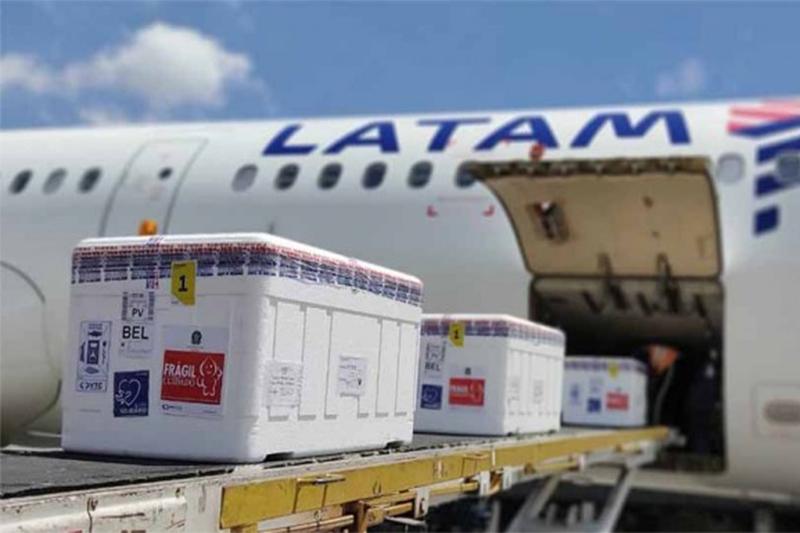Vacinas da Pfizer devem chegar nesta tera a Manaus (Foto: Latam/Divulgação)