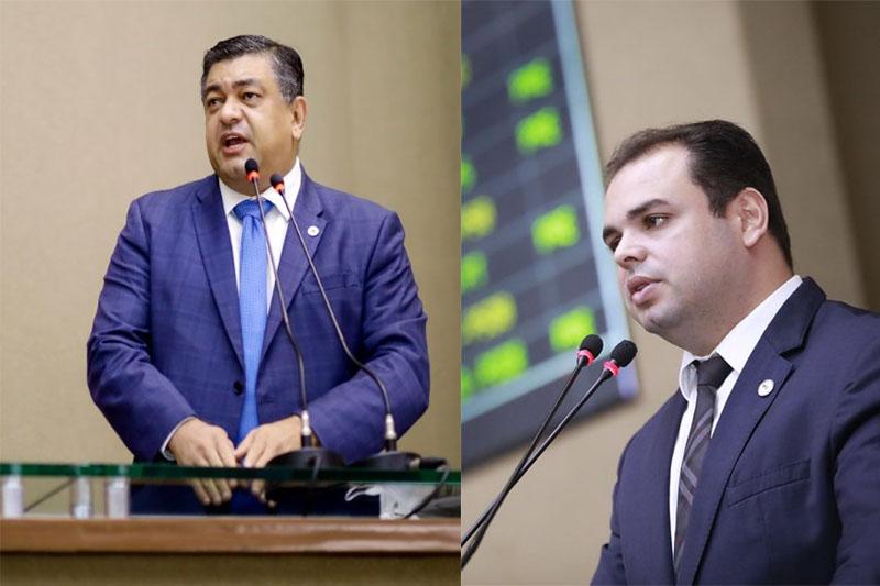 Dermilson Chagas e Roberto Cidade: embate na Justiça por pedidos de impeachment (Fotos: Assessoria e Danilo Mello-ALE-AM)